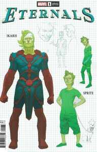 Eternals #1 1:10 Esad Ribic Design Variant Ikaris Marvel 2021 Kieron Gillen