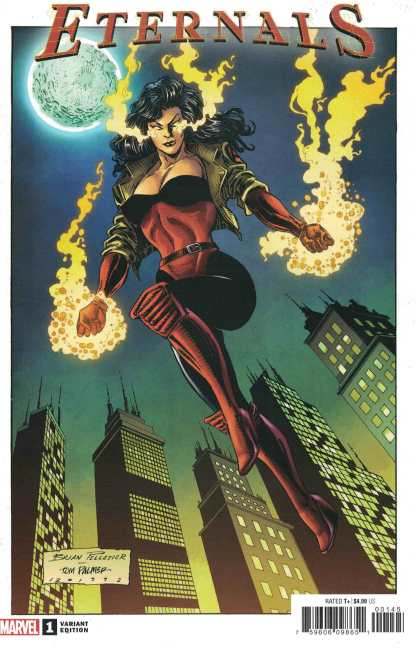 Eternals #1 1:50 Brian Pelletier Hidden Gem Variant Marvel 2021 Gillen Ribic
