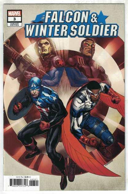 Falcon & Winter Soldier #3 1:25 Cory Smith Variant Marvel 2020 Derek Landy VF/NM