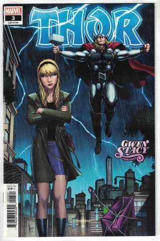 Thor #3 Gwen Stacy Variant Marvel 2020 Black Winter VF/NM