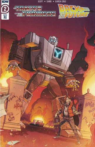 Transformers Back to the Future #2 1:10 Dan Schoening Variant IDW 2020