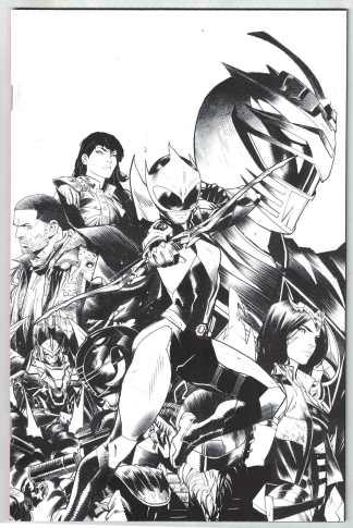 Power Rangers Ranger Slayer #1 1:25 Dan Mora B&W Variant Boom 2020 VF/NM