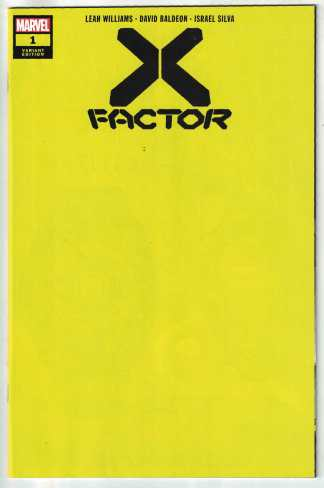 X-Factor #1 1:200 Yellow Blank Variant Marvel DX 2020 NM-