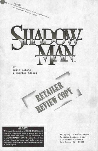 Shadowman #5 Retailer Review Copy Preview Jamie Delano Charlie Adlard