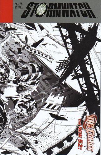 Stormwatch #5 Black and White Miguel Sepulveda Sketch Variant