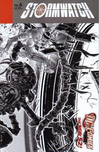 Stormwatch #6 Black and White Miguel Sepulveda Sketch Variant