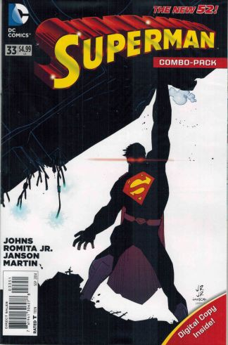 Superman #33 Combo Pack John Romita Jr Variant DC 2011 Geoff Johns