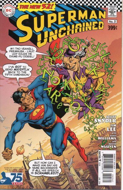 Superman Unchained #5 Jose Luis Garcia-Lopez Silver Age Variant