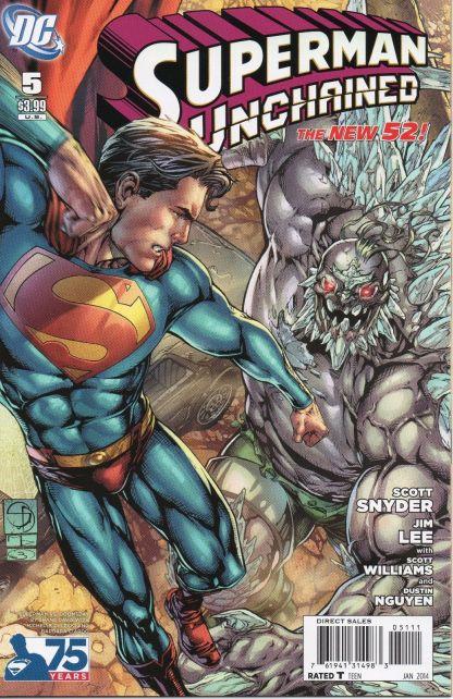 Superman Unchained #5 Shane Davis Superman vs. Doomsday Variant