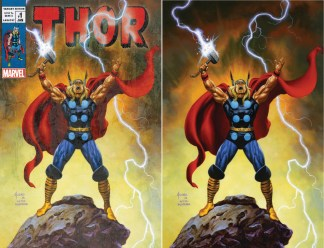 Thor #1 Joe Jusko Ultimate Comics Exclusive Donny Cates Vintage/ Virgin Variant Set