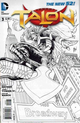 Talon #3 Black and White Guillem March Sketch Variant