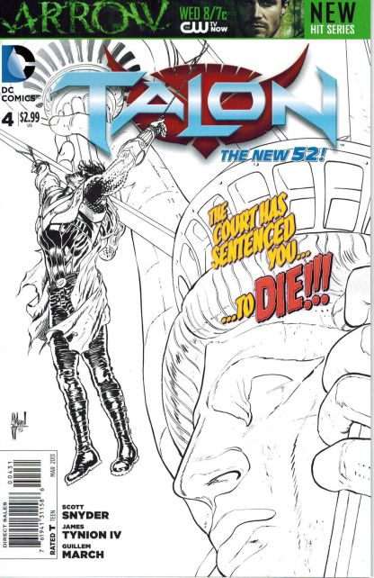 Talon #4 Guillem March Black and White Sketch Variant