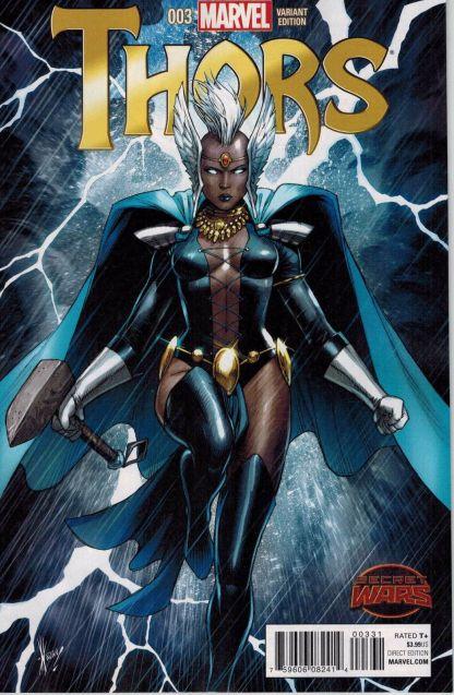 Thors #3 1:25 Dale Keown Variant Secret Wars 2015 Marvel Storm