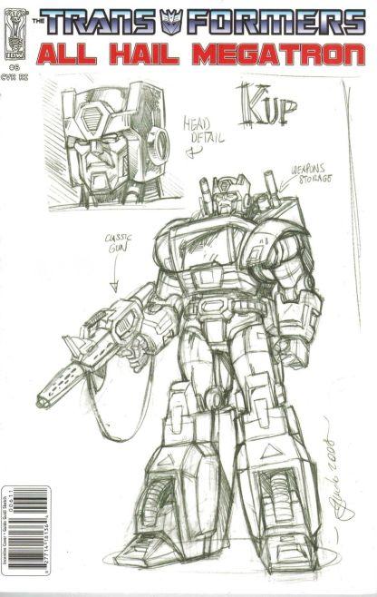Transformers: All Hail Megatron #6 Guido Guidi Sketch Variant