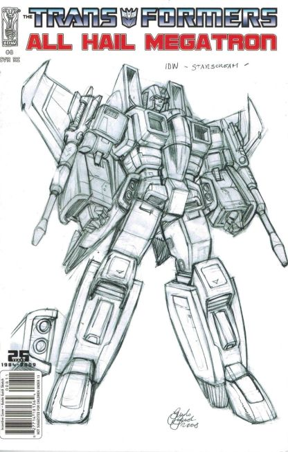 Transformers: All Hail Megatron #8 Guido Guidi Sketch Variant