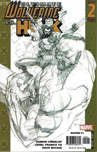 Ultimate Wolverine Vs Hulk #2 1:50 Leinil Francis Yu Sketch Variant Marvel
