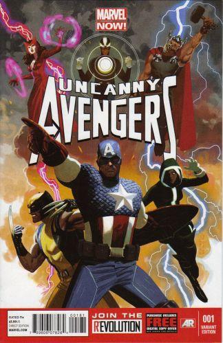 Uncanny Avengers #1 1:50 Daniel Acuna Variant Marvel 2012