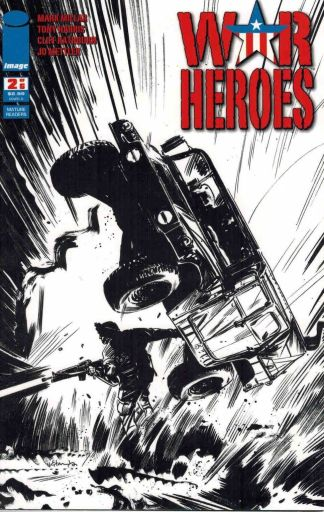 War Heroes #2 Tommy Lee Edwards Black and White Sketch Variant Mark Millar