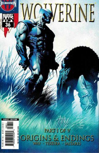 Wolverine #36 Joe Quesada Cover Origins and Endings Daniel Way Mark Texeira