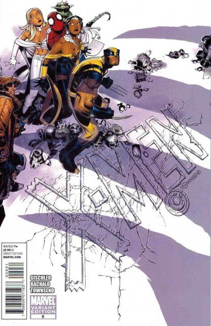 X-Men (2010) #9 Chris Bachalo Spider-Man Storm Wolverine Frost Gambit Variant