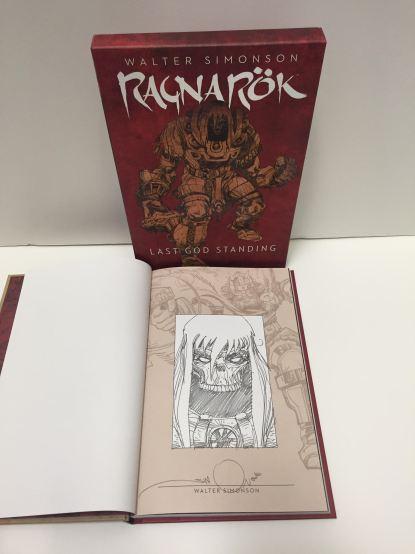 Ragnarok Last God Standing Splicase HC Signed & Sketched by Walt Simonson IDW