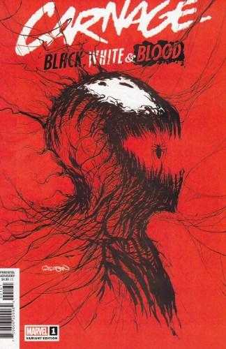 Carnage Black White & Blood #1 Patrick Gleason Variant Marvel 2021 Cover F
