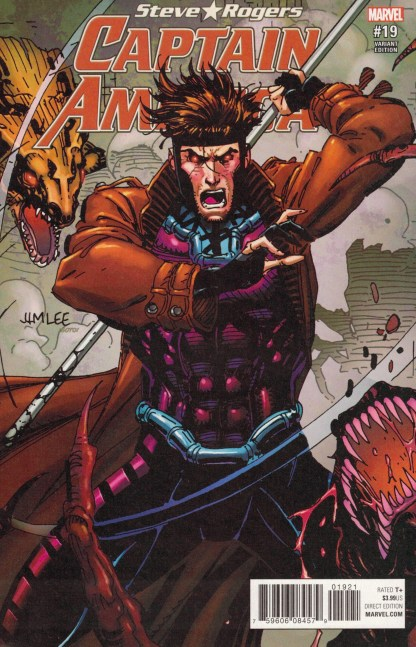 Captain America Steve Rogers #19 Gambit Jim Lee X-Men Card Variant Marvel 2016
