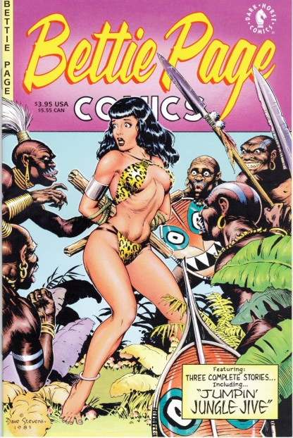 Bettie Page Comics #1 Dave Stevens Cover Dark Horse 1996 Rare!