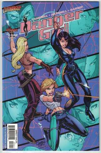 Danger Girl #1 J. Scott Campbell Image 1998 VF/NM