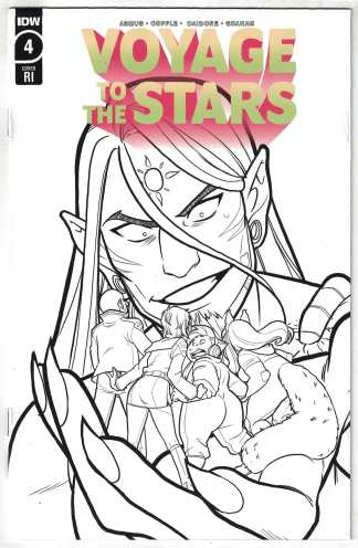 Voyage to the Stars #4 1:10 Connie Daidone B&W Variant IDW 2020 VF/NM