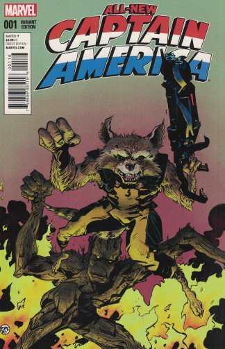 All-New Captain America #1 Paul Pope Rocket & Groot Variant Marvel 2014 Remender