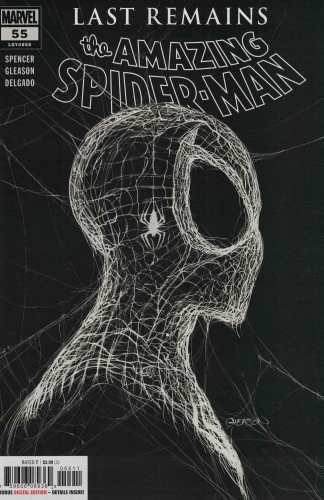 Amazing Spider-Man #55 Patrick Gleason B&W 1st Print A CVR Marvel 2018 Spencer