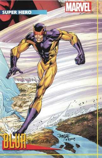 Heroes Reborn #3 Mark Bagley Blur Trading Card Variant Marvel 2021 Jason Aaron