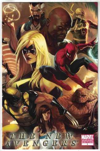 The New Avengers 1:25 Marko Djurdjevic Variant Marvel 2010 Bendis VF/NM