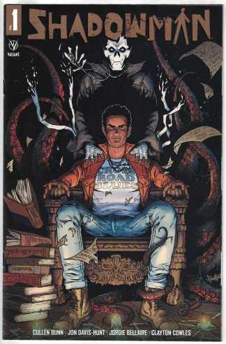 Shadowman #1 1:25 Gold Logo Jon Davis-Hunt Valiant 2021 Cullen Bunn VF/NM