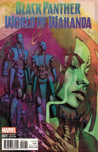 Black Panther World of Wakanda #1 1:25 Stelfreeze Variant Marvel 2016