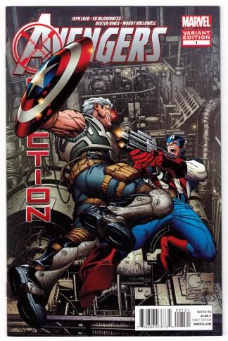 Avengers X-Sanction #1 1:100 Joe Quesada Color Variant 2011 Cable VF/NM
