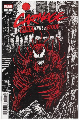 Carnage Black White & Blood #3 1:25 Kevin Eastman Variant 2021 VF/NM