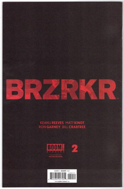 BRZRKR #2 1:20 Rafael Grampá Secret Variant B&W BOOM! 2020 Keanu Reeves VF/NM