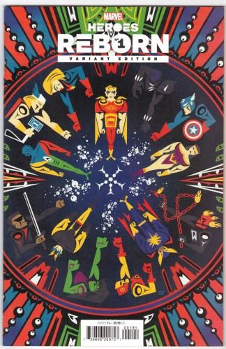 Heroes Reborn #1 1:50 Jeffrey Veregge Variant Marvel 2021 VF/NM