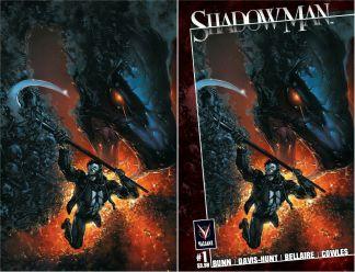 Shadowman #1 Exclusive Clayton Crain Classic Variant Valiant 2021 Logo/Virgin Set