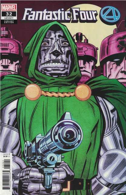 Fantastic Four #32 1:50 Kirby Doctor Doom Variant Marvel 2018 Slott