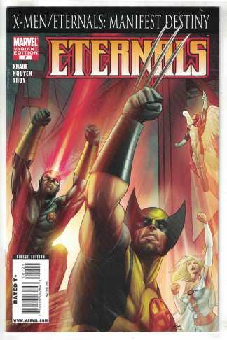 Eternals #7 Martin Variant Marvel 2008 FN/VF X-Men Manifest Destiny