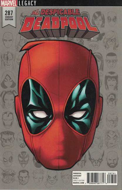 Despicable Deadpool #287 McKone Headshot Variant Legacy Marvel 2017