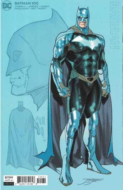 Batman #100 1:25 Jimenez Cardstock Design Variant DC 2016 Tynion IV Joker War