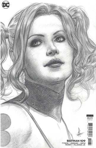 Batman #109 1:25 Federici Harley Quinn B&W Sketch Variant DC 2016 Tynion IV