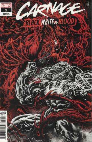 Carnage Black White and Blood #2 Hotz Variant Marvel 2021 Zdarsky