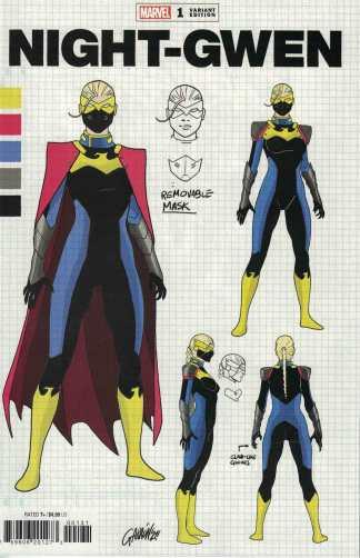 Heroes Reborn Night-Gwen #1 1:10 Garron Design Variant Marvel 2021