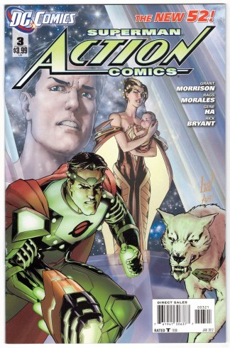 Action Comics #3 Gene Ha Variant DC Comics 2011 Superman New 52 VF/NM