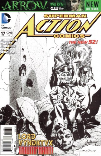 Action Comics #17 1:100 Rags Morales B&W Variant DC 2011 New 52